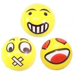 Anti Stress Ball Squeeze Emoji Smiley Joke 3-Pack