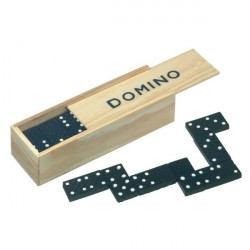 Traditional Games Dominoes 28 Pieces Black & White