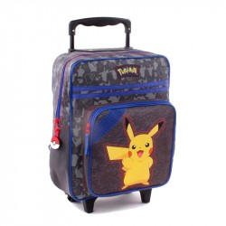 Pokemon Pikachu Pika Pika Trolley Backpack Travel Bag 35x28x12cm