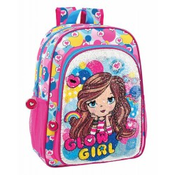Glowlab Glow Girl Sequins School Bag Reppu Laukku 43cm