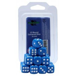 Blackfire Dices - 16mm D6 Dices - Blue 15 Pcs.