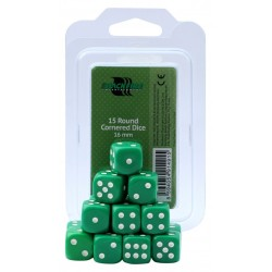 Blackfire Dices - 16mm D6 Dices - Green 15 Pcs.