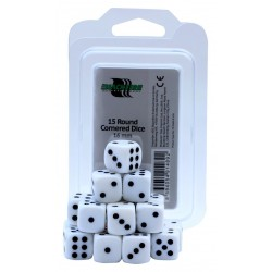 Blackfire Dices - 16mm D6 Dices - White 15 Pcs.