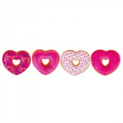 2-Pack Stuffed Love Heart Donuts Plush 18cm