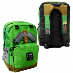 Minecraft Pickaxe Adventure Backpack Skoletaske 44x31x14cm