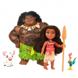 Disney Vaiana Moana Maui The Demigod Figures 4. Playset Dukker