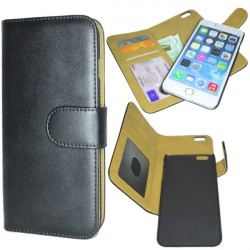 iPhone 6S PLUS Deluxe Wallet Folio Case With Removable Magnetic Cover