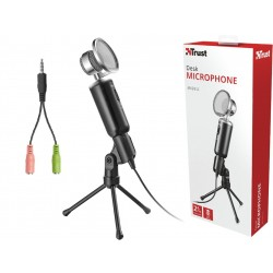 Trust Madell Microphone and Stand for PC Laptop 3.5 mm Plug