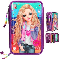 TOPModel 44-pieces Penaaleita Triple School Pencil Case Rainbow Christy