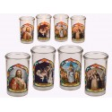 4-Pack Candle In Glass With Religious Designs