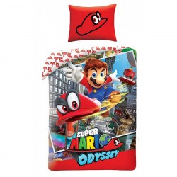 Super Mario Odyssey Cappy Påslakanset Bäddset 140x200+70x90cm Super Mario Odyssey Cappy Super Mario Bros 499,00 kr product_re...