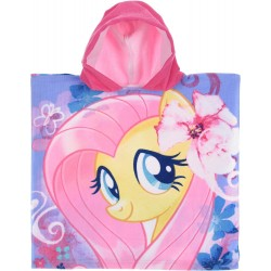 My Little Pony Fluttershy Kids Double Sided Hooded Towel Poncho 100*50cm
