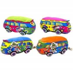 Hippie Bus Peace Happy Plush Figur Legetøj Plys Blush Plush 25cm