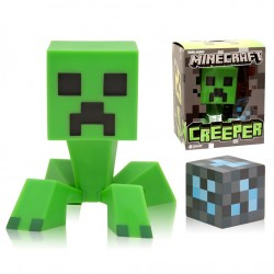 Minecraft Creeper Vinyl Figur Med Diamantblock