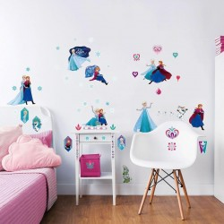 Disney Frozen 53pcs Wall Stickers For Kids Bedrooms