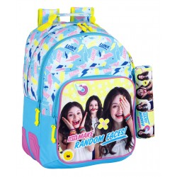 Disney Soy Luna Random Faces Backpack School Bag 42 x 32 x 15cm + Pencil Case