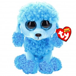 TY Beanie Boos Mandy The Blue Poodle Toy Plys Blød Plys 15cm
