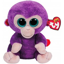 TY Beanie Boos Grapes Purple Monkey Plush Toy 24cm