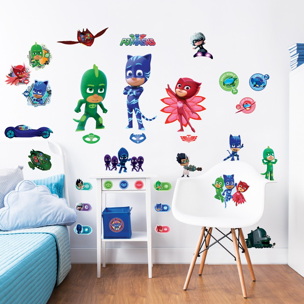 Pj Masks 33pcs Wall Stickers For Kids Bedrooms Transform Your Room
