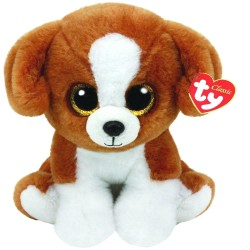 TY Classic Snicky Dog With Glitter Eyes Dog Toy Plush Soft Ice 24cm