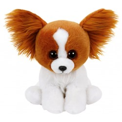 TY Classic Barks Brown Dog With Glitter Eyes Plush Toy 24cm