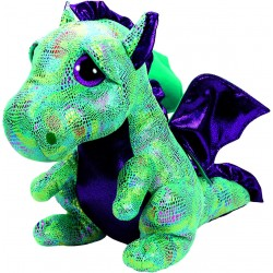 TY Beany Boos Cinder Green Dragon Large Plush Toy 42cm