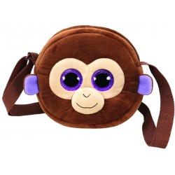 TY Gear Coconut Monkey Purse Shoulder Plush Bag 18cm