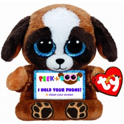 TY Peek-A-Boos Pups Dog Phone Holder Plush