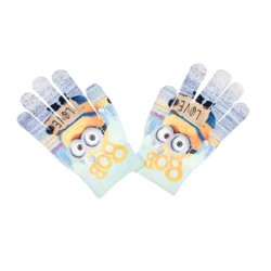 Minions Gloves Children Mittens One Size Blue/Grey
