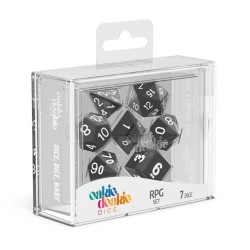 Oakie Doakie Dice - RPG Set - Solid Black 7pcs