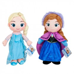Frozen Elsa & Anna Soft Doll Plush Nukke 33cm