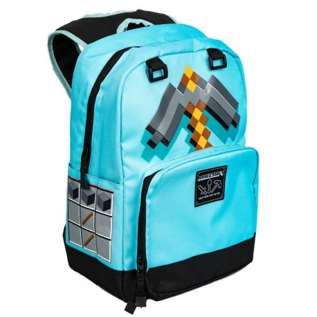 Minecraft Childrens//Kids Official Diamond Mini Backpack Pixel Blue One Size