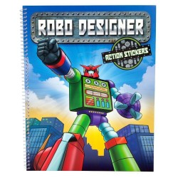 ROBO Designer Puzzle Book Coloring Book with 3D Stickers