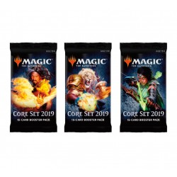 Magic The Gathering Core Set 2019 Booster 3-Pack. Kort