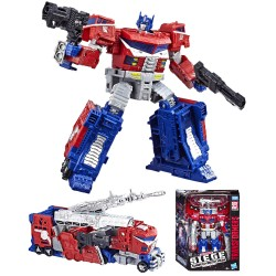 Transformers Leader Class WFC-S40 Galaxy Upgrade Optimus Prime handling figur