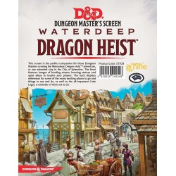 D&D Dungeon Master's Screen Waterdeep Dragon Heist SCREEN