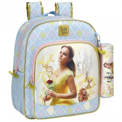 Disney Princess Belle Backpack Reppu Laukku 38x32x12cm + Pencil Case