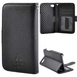 TOPPEN Left Handed Wallet Case For iPhone 4/4S, Black