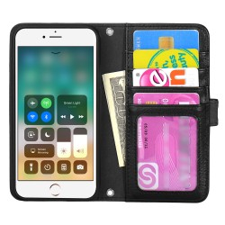 TOPPEN Left Handed Wallet Case iPhone 8 Plus/7 Plus/6S Plus