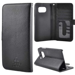 TOPPEN Left Handed Wallet Case Samsung Galaxy S6 Edge, Black