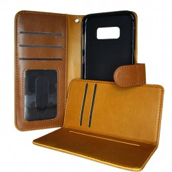 TOPPEN 2in1 Wallet Case & Card Holder Samsung Galaxy S8 Brown
