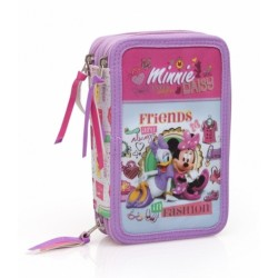 44-pieces Minnie Mouse and Daisy Triple School Set Pencil Case