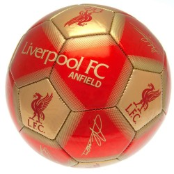 Liverpool Signature Football Autographs Sports Ball Size 5 Gold/Red