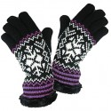 RockJock Ladies Snow Flake Design Knitted Insulated Gloves