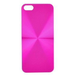 iPhone SE / 5 / 5S Cover med aluminium look ROSA