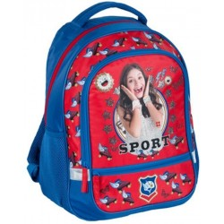 Disney Soy Luna Sport Backpack School Bag 42x33x16cm Blue/Red