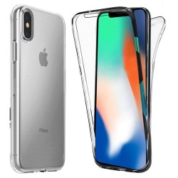 iPhone Xs MAX Suojakuori Full Cover Soft TPU Case Ultra Slim Cover Transparent