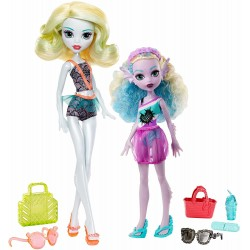 Monster High 2-Pack Family Lagoona Blue & Kelpie Blue Dolls