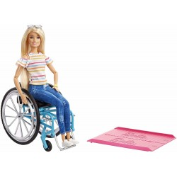 Barbie Fashionistas Doll 132 With a Wheelchair And Ramp