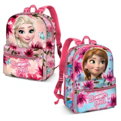 Reversible 2i1 Disney Frozen Anna Elsa Backpack Reppu Laukku 40x32x12cm
